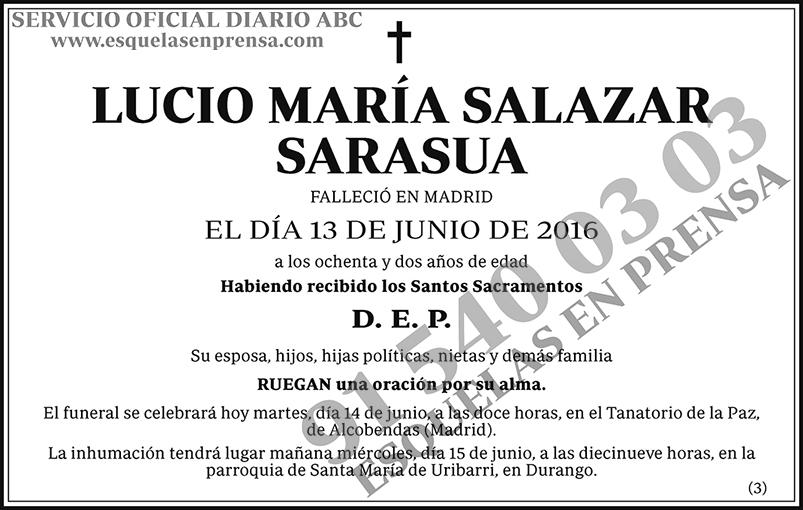 Lucio María Salazar Sarasua